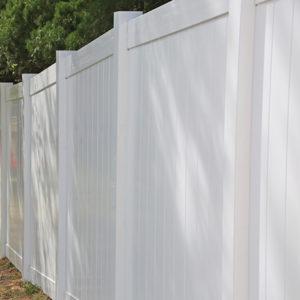 Beautiful Vinyl Fence Installation