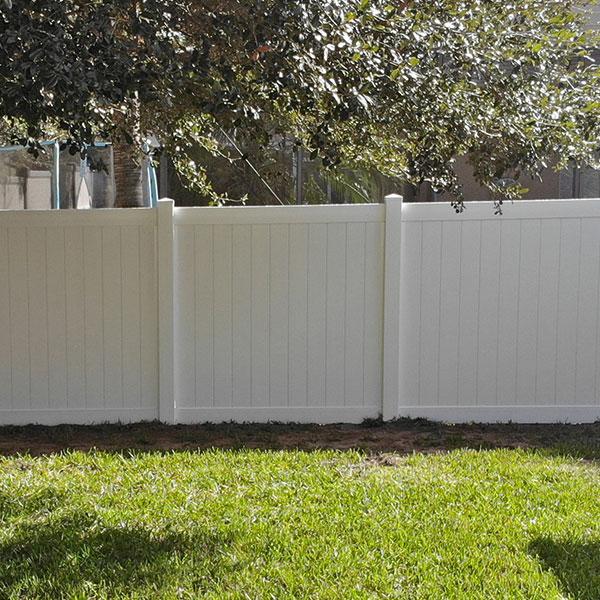 Properly Installed Vinyl Fence