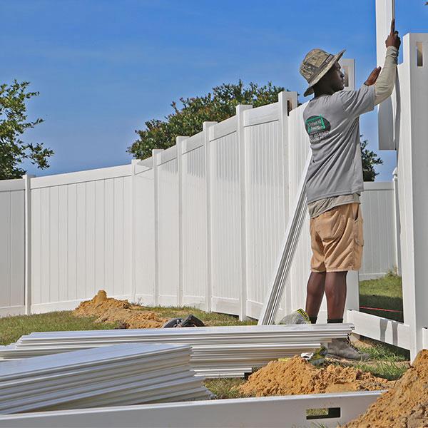 Homosassa, FL PVC Fence Installation
