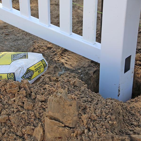 Vinyl Commercial Fence Install In Hernando Beach, Fl