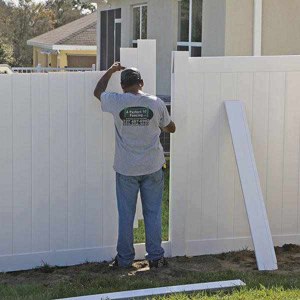 pvc fence repair in homosassa fl