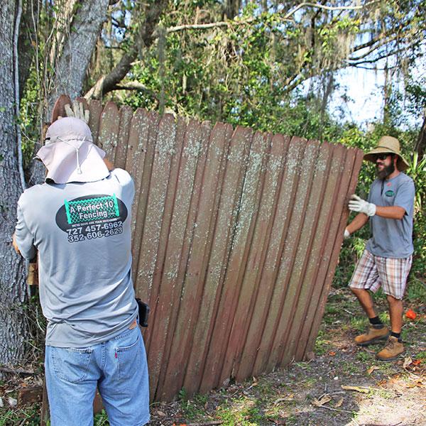 Wood Fence Repair In Brooksville, Fl