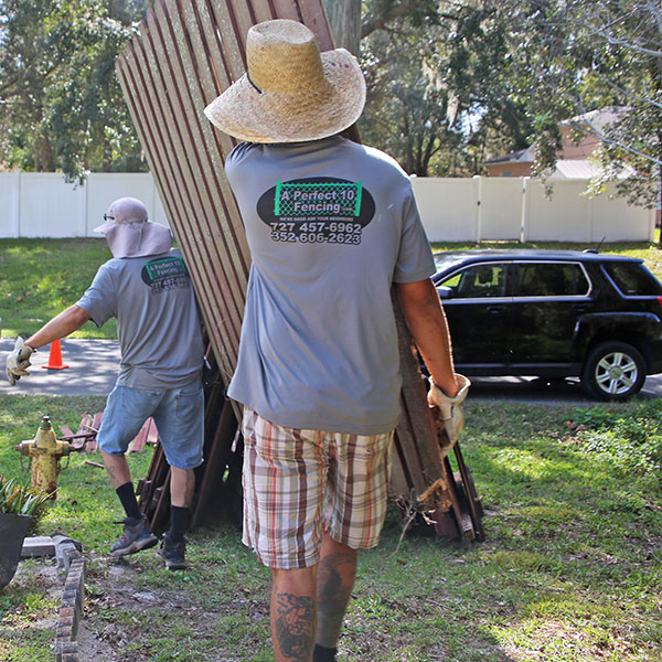 Wood Fence Installation in South Brooksville, Fl