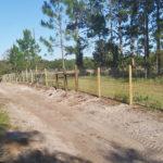 Livestock fence installation