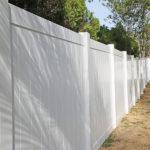 vinyl fence installation in Hernando, Fl