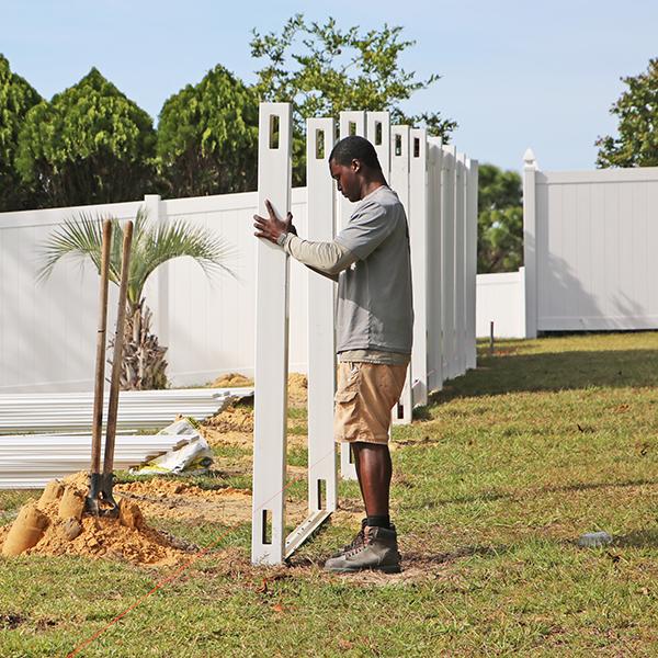Fence on a grade, hernando county fl