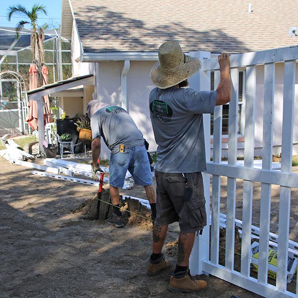 vinyl fence installation, sugarmill fl