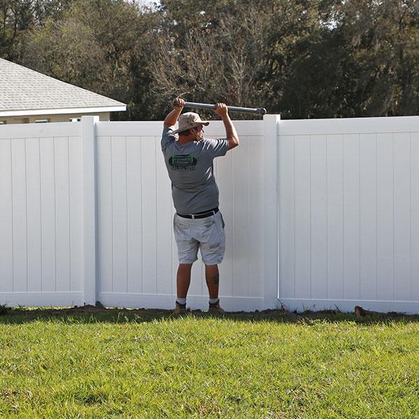 vinyl privacy fence installation, hernando fl